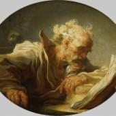 JEAN-HONORÉ FRAGONARD (1732– 1806) Der Philosoph, um 1764 Öl auf Leinwand, 59 x 72,2 cm (oval) © Hamburger Kunsthalle / bpk Foto: Elke Walford