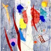 """Sam Francis (1923 - 1994) """"Ohne Titel (SFM83-353)"""" Signierte Monotypie in Farben auf Arches-Papier, 1983, 75 x 62 cm Foto: © Kunsthaus Wiesinger"""
