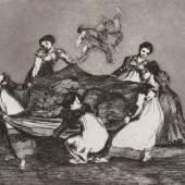 Francisco de Goya El caballo raptor, 1815-1824 (Das Pferd als Frauenräuber) Serie: Los Proverbios (Die Torheiten) Radierung und Aquatinta © Museum der Moderne Salzburg Foto: Rainer Iglar