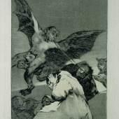 Francisco de Goya, Soplones (Ohrenbläser), Radierung und Aquatinta, aus dem Zyklus Los Caprichos [48], Stadtmuseum Oldenburg
