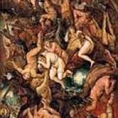 Höllensturz der Verdammten, ca. 1605-1610 Öl/Eichenholz, 46,5 x 32 cm, Leihgabe Kunsthistorisches Museum Wienm Inv. Nr. 1106