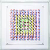 Françoise Aubry (Frankreich) Ohne Titel, 2017, PMMA und Acrylmalerei, 50 x 50 cm