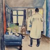 August Macke Franz und Maria Marc im Atelier, 1912 Städtische Galerie im Lenbachhaus und Kunstbau München