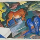 Franz Marc Rotes und blaues Pferd, 1912 Städtische Galerie im Lenbachhaus und Kunstbau München