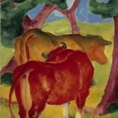 Franz Marc Kühe unter Bäumen, 1910/11 Kunstmuseum Mülheim an der Ruhr