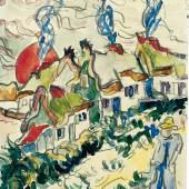 Ernst Ludwig Kirchner Landschaft mit Häusern und Mann, o. J. Franz Marc Museum, Kochel am See Stiftung Etta und Otto Stangl