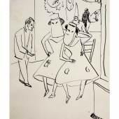 Ernst Ludwig Kirchner, Maskenball, um 1910 Franz Marc Museum, Kochel am See Dauerleihgabe aus Privatbesitz