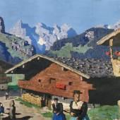 Alfons Walde (Oberndorf in Tirol 1891 - 1958 Kitzbühel) Bergweiler Öl auf Karton 48 x 69 cm rechts unten signiert  Zur Verfügung gestellt von: Antiquitäten Kunsthandel Freller