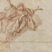"""Günther, Matthäus """"Freskoentwürfe"""" Lavierte Rötelzeichnung, weiß gehöht auf Büttenpapier. 28,5 x 22cm. Ergebnis: € 120.000"""