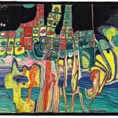 Friedensreich Hundertwasser. 1928 Wien - 2000 an Bord der Queen Elizabeth 2 im Pazifischen Ozean vor Neuseeland. Ausrufnummer:989 Ausrufpreis:20000 Euro