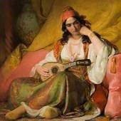 Friedrich von Amerling (1803 – 1887) Regine in griechischem Kostüm, 1842 Öl auf Leinwand 124 x 105,5 cm Schätzpreis: 100.000 – 150.000 €