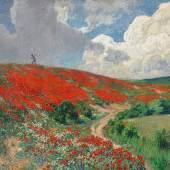 Fritz von Wille (1860 – 1941) Mohnblüte | Öl auf Leinwand | 126 x 150cm Schätzpreis: 15.000 – 20.000 Euro