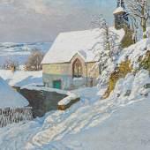 Fritz von Wille (1860 – 1941) Die winterlich tiefverschneite Kapelle in Kerpen Öl auf Leinwand | 100 x 120cm Schätzpreis: 10.000 – 15.000 Euro