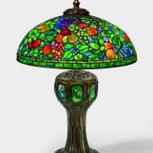 """Tiffany Studios A Rare """"Fruit"""" Table Lamp circa 1910-1915 Estimate $500/700,000 Courtesy Sotheby's"""