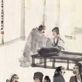 Fu Baoshi_Appreciating Painting at Literati Gathering
