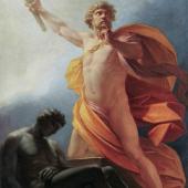 Heinrich Friedrich Füger (1751–1818) Erschaffung des Menschen durch Prometheus, 1790 Öl auf Leinwand LIECHTENSTEIN. The Princely Collections, Vaduz–Vienna Inv.-Nr. GE 1362