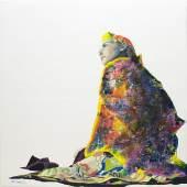 """blackbird"" 2014, 100 x 100cm Ölgemälde"