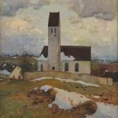 Dorfkirche, F.X. Hoch, 1906, Foto: Axel Killian © Städtische Museen Freiburg