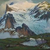 Gebirgslandschaft mit Eiger, F.X. Hoch, 1914, Foto: Axel Killian © Städtische Museen Freiburg
