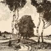 Landschaft mit Birken, F.X. Hoch, Foto: Axel Killian © Städtische Museen Freiburg