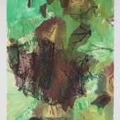 Per Kirkeby, Ohne Titel, 2000, Monotypie, 220 x 125 cm, MHK, Graphische Sammlung