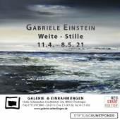 """Flyer: Gabriele Einstein """" Weite – Stille """""""