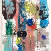 Gabriele Basch, banden, 2020, Acryl auf Papierschnitt, 42x29,5 cm, courtesy of Galerie Carolyn Heinz & the artist