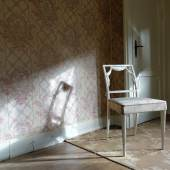 Blick in das Schlafzimmer des Gästeappartements während der Restaurierung. Foto: SPSG/Elvira Kühn