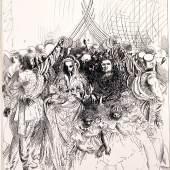 Galerie Brusberg_Werner Tübke, Cortège de mariage, 1957, Federzeichnung, 34,2 x 26,2 cm, Wvz. 104.57,  (c) VG Bildkunst und Galerie Brusberg, Berlin