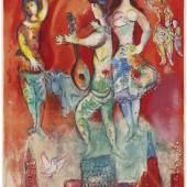 Marc Chagall, Carmen, Farblithographie 1967. Nur eines von vielen beeindruckenden Werken am Messestand von Annegret und Gernot Rudolf, Sylt, Foto: Galerie Rudolf