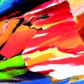 """Leopold Ganzer (1929 – 2008) """"Sonnenuntergang in den Bergen"""" Acryl auf Leinwand verso signiert, 1986, WVZ-Nr. 0340 45 x 55 cm  Zur Verfügung gestellt von: Galerie Szaal"""