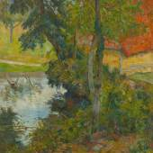 PAUL GAUGUIN, PAYSAGE AU TOIT ROUGE, 1885 Landschaft mit rotem Dach Öl auf Leinwand 81.5 x 66 cm Rudolf Staechelin Collection  Foto: Robert Bayer