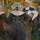 Paul Gauguin, Bretonische Bäuerinnen, 1886, Öl auf Leinwand  ©Bayerische Staatsgemäldesammlungen, Neue Pinakothek, München
