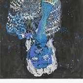 Georg Baselitz Elke negativ blau, 2012 Öl auf Leinwand / Oil on canvas Hélène Nguyen-Ban © Georg Baselitz, 2014 Foto / Photo: Jochen Littkemann
