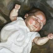 Baby on a Green Sofa (1.7 MB) Lucian Freud (1922-2011) 1961 Öl auf Leinwand, 56 x 62 cm Chatsworth House, Derbyshire, UK © Devonshire Collection, Chatsworth © The Lucian Freud Archive / The Bridgeman Art Library