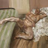 Nude with Leg Up (1.2 MB) Lucian Freud (1922-2011) 1992 Öl auf Leinwand, 182,9 x 229 cm Hirshhorn Museum & Sculpture Garden, Washington D.C. © The Lucian Freud Archive / The Bridgeman Art Library