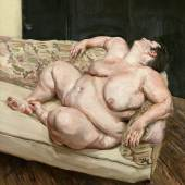 Benefits Supervisor Resting (1.4 MB) Lucian Freud (1922-2011) 1994 Öl auf Leinwand, 160 x 150,4 cm Privatsammlung © The Lucian Freud Archive / The Bridgeman Art Library