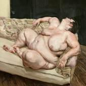 Benefits Supervisor Resting (1.4 MB) Lucian Freud (1922-2011) 1994 Öl auf Leinwand, 160 x 150,4 cm Privatsammlung © The Lucian Freud Archive / The Bridgeman Art Library