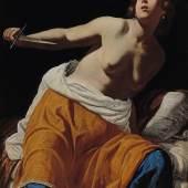 Artemisia Gentileschi (1593 - 1653) Lucretia, Öl auf auf Leinwand,