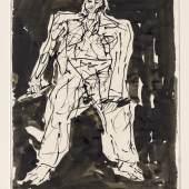 Georg Baselitz Ohne Titel 2007 Tuschfeder und Tusche auf Bütten 65,8 x 50,5cm