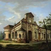 Georg Fries (1787- 1854), Die Magdalenen- klause im Nymphenburger Schlosspark, Öl/Lwd. (Schätzpreis 12 000 Euro)