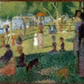 Georges Seurat, Étude d'ensemble (Étude pour Un dimanche à la Grande Jatte), 1884 The Metropolitan Museum of Art, New York