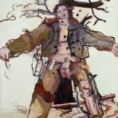 Georg Baselitz, Vorwärts Wind, 1966 Öl auf Leinwand, 162 x 130 cm Sammlung Ströher, Foto: Friedrich Rosenstiel, Köln. © Georg Baselitz 2019