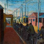 Gerard Sekoto, Cyclists in Sophiatown, est. £250,000-350,000 (without frame)