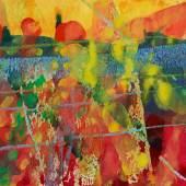 Gerhard Richter (1932)  9.6.84   1984   Wasserfarben und Fettkreide auf leichtem Karton   18 x 23,5 cm Taxe: 120.000 – 180.000 €