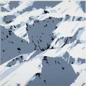 Gerhard Richter, Schweizer Alpen, Motiv B1, 1969, Farbserigrafie