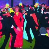 Robert Hammerstiel (geb. 1933 in Werschetz) EU – Ball in Brüssel Acryl auf Leinwand, 2012 (nach einer Skizze von 2008) 80 x 100 cm  Zur Verfügung gestellt von: Galerie Gerlich