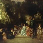 Antoine Watteau: Gesellschaft im Freien; um 1720 © Staatliche Museen zu Berlin, Foto: Jörg P. Anders