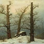 Caspar David Friedrich: Hünengrab im Schnee, 1807 © Staatliche Kunstsammlungen Dresden, Foto: Jürgen Karpinski