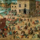 Pieter Bruegel d. Ä. (um 1525/30 vermutlich in Breugel oder Antwerpen - 1569 Brüssel) Kinderspiele 1560, Öl auf Holz, 118 x 161 cm Kunsthistorisches Museum Wien, Gemäldegalerie © KHM-Museumsverband